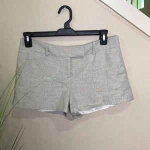 loft silver shimmery shorts